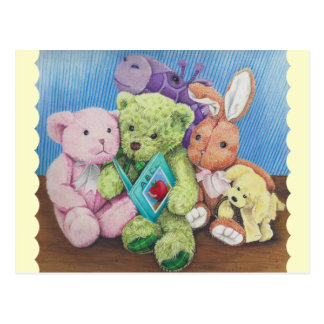 Stuff Animal Circle Time Art Print Postcard
