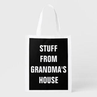 Stuff from Grandma's House Reusable Bag Reusable Grocery Bag