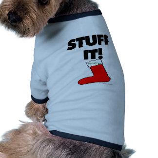 Stuff It - Happy Holidays (Light) Dog Shirt