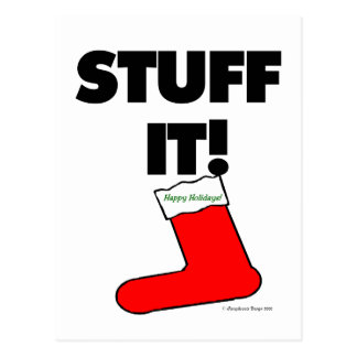 Stuff It - Happy Holidays (Light) Postcards