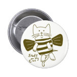 stuff on my cat - bee pinback buttons