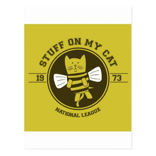 stuff on my cat - bee postcards