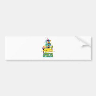 Stuff on my Cat - cartoon stack Car Bumper Sticker