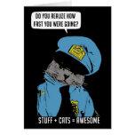 Stuff on my cat - Cop Greeting Card