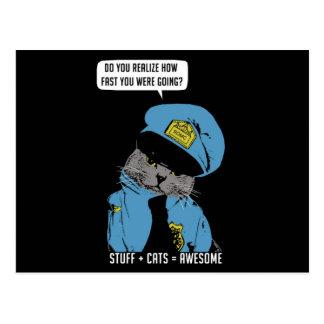 Stuff on my cat - Cop Post Cards