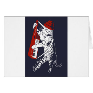 stuff on my cat - keytar card