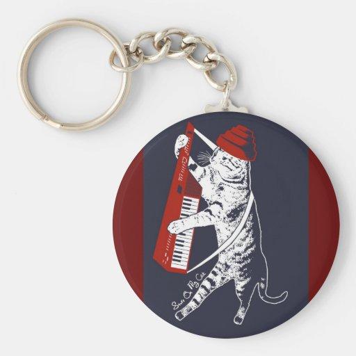 stuff on my cat - keytar keychain
