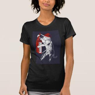 stuff on my cat - keytar T-Shirt