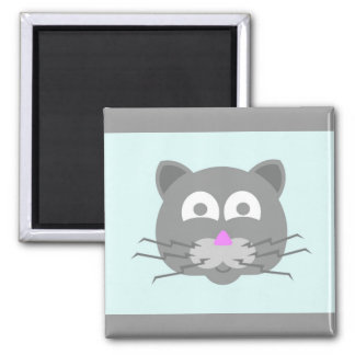 stuff on my cat - kitty cat 2 inch square magnet