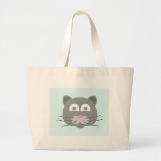 stuff on my cat - kitty cat large tote bag