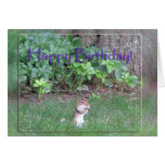"""Stuff Your Cheeks"" birthday card"