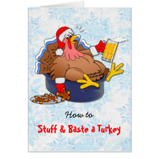 Stuffed and Basted Turkey (Beer) Card