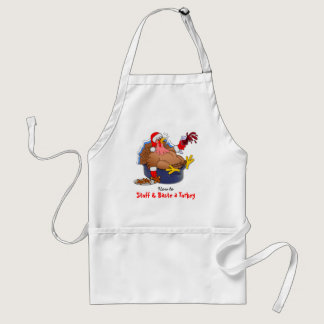 Stuffed and Basted Turkey (Wine) Adult Apron