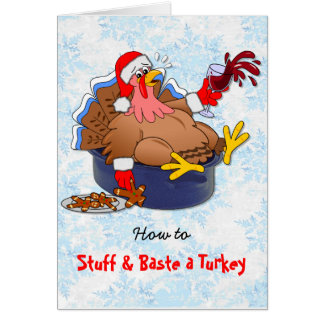 Stuffed and Basted Turkey (Wine) Card