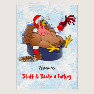 Stuffed and Basted Turkey (Wine) Card