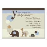 Stuffed Animal Baby Boy Shower Invitation