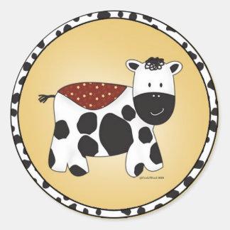 Stuffed Animal Cow Sticker