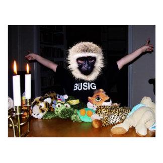 Stuffed animal king postcard