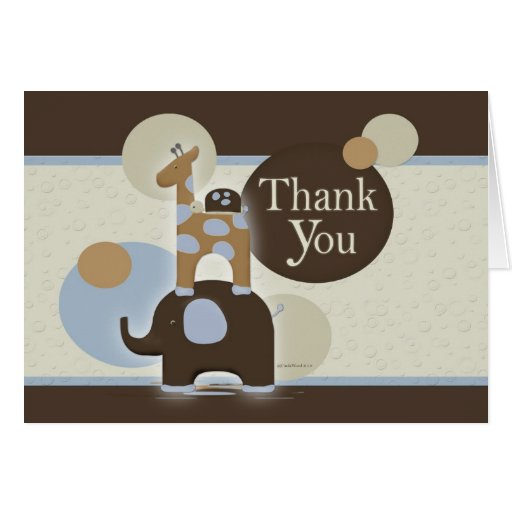 Stuffed Animal Thank You Notes Greeting Card