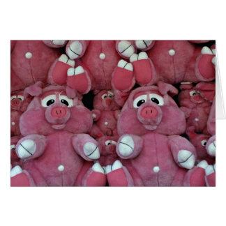 Stuffed animals at amusement park cards
