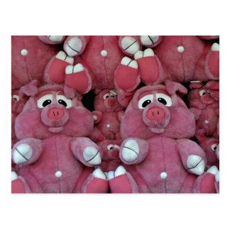 Stuffed animals at amusement park postcard