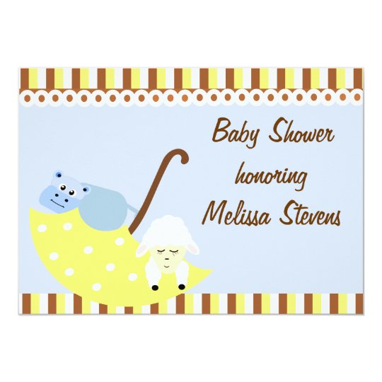Stuffed Animals Baby Shower Invitation
