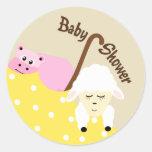 Stuffed Animals Baby Shower Sticker