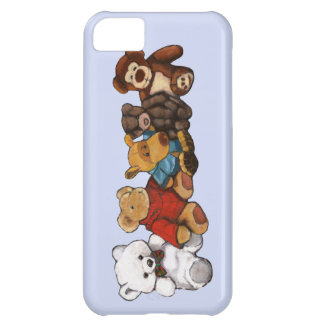 Stuffed Animals: Oil Pastel Painting: Teddy Bear Case For iPhone 5C
