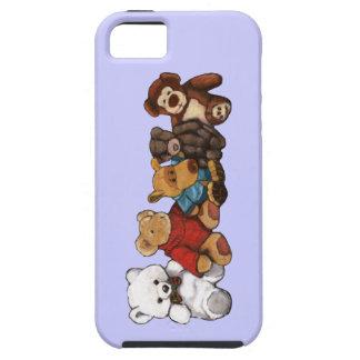 Stuffed Animals, Teddy Bears, Oil Pastel Art iPhone 5 Cases
