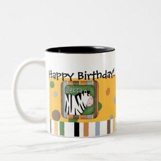 Stuffed Animals Wild Zebra Fun Kids Birthday Mug mug