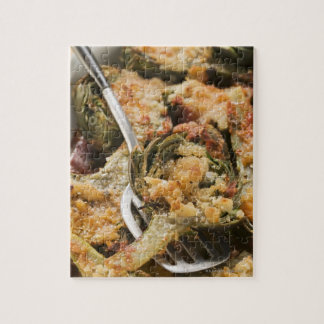 Stuffed artichokes with gratin topping jigsaw puzzle