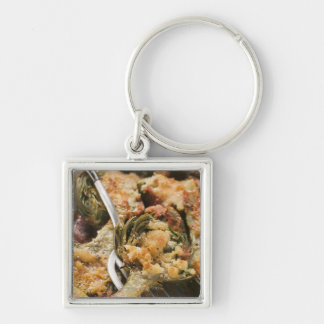 Stuffed artichokes with gratin topping keychain