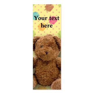 Stuffed Bear Bookmark Mini Business Card