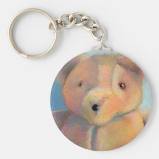 Stuffed bear cute plush teddy original art drawing key chain