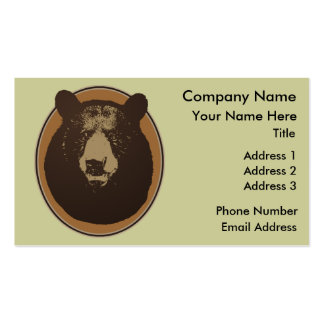 Stuffed Brown Bear Head on the Wall Double-Sided Standard Business Cards (Pack Of 100)