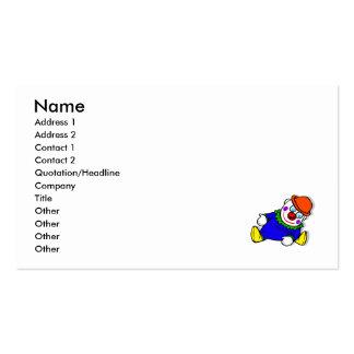 Stuffed Clown Business Card