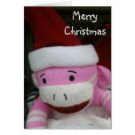 STUFFED MONKEY CHRISTMAS WISH CARDS