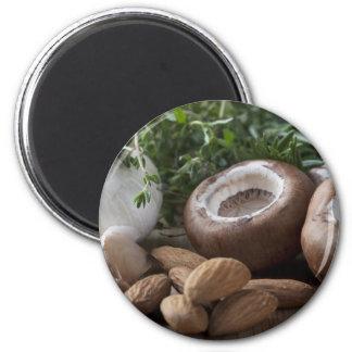 Stuffed Mushroom Ingredients 2 Inch Round Magnet