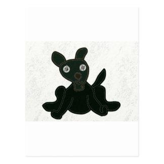 stuffed puppy postcard