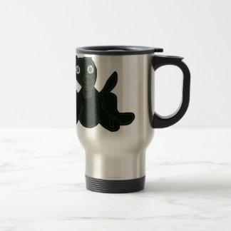 stuffed puppy travel mug