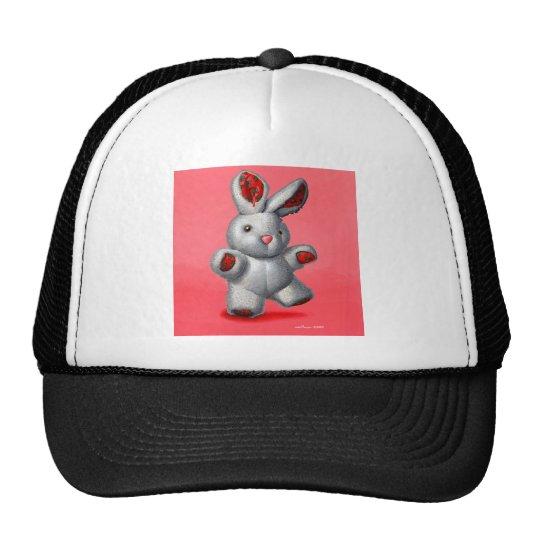 Stuffed rabbit trucker hat