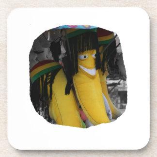 Stuffed rasta banana at fairgrounds beverage coaster