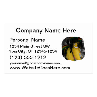 Stuffed rasta banana at fairgrounds Double-Sided standard business cards (Pack of 100)