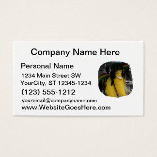 Stuffed rasta banana at fairgrounds business card