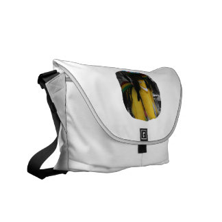 Stuffed rasta banana at fairgrounds messenger bag