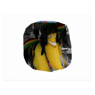 Stuffed rasta banana at fairgrounds postcard