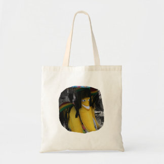 Stuffed rasta banana at fairgrounds tote bag