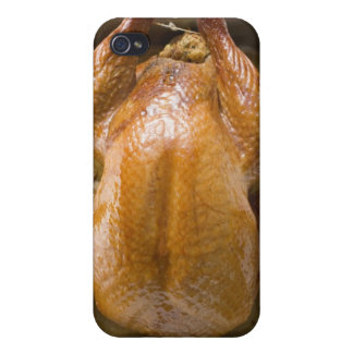 Stuffed roast turkey in roasting tray, close up case for iPhone 4