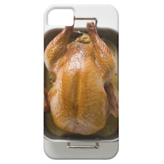 Stuffed roast turkey in roasting tray, close up iPhone SE/5/5s case