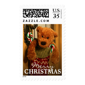 Stuffed stocking postage stamp